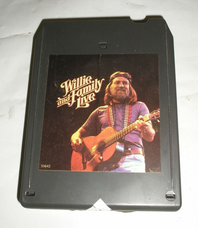 Willie Nelson - Willie And Family Live - 8 Eight Track Tape