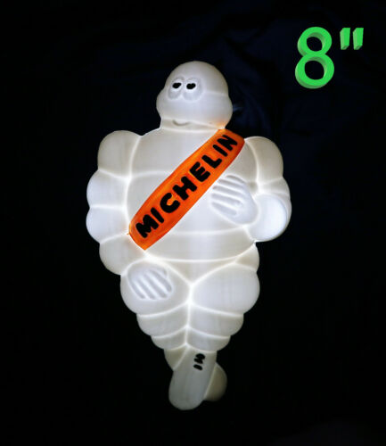 "8""White Light Michelin Man Doll Figure Bibendum Advertise Tire Collectibles"