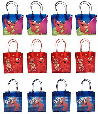 Sesame Street Elmo 12PCS GOODIE BAGS BIRTHDAY PARTY FAVOR BAGS GIFT Bags - Elmo Party Bags