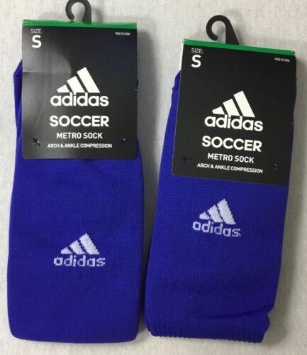 Adidas 2-Pk Kids Soccer Metro OTC Compression Crew Socks 5137769A Blue Size S