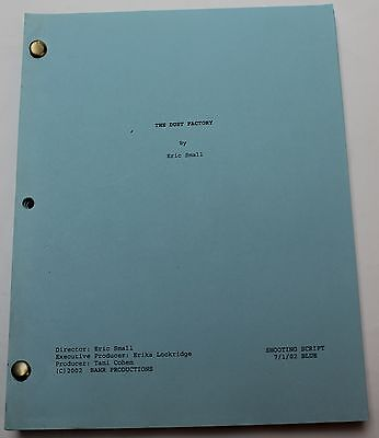The Dust Factory * 2002 Original Movie Script * Hayden Panettiere Fantasy Drama