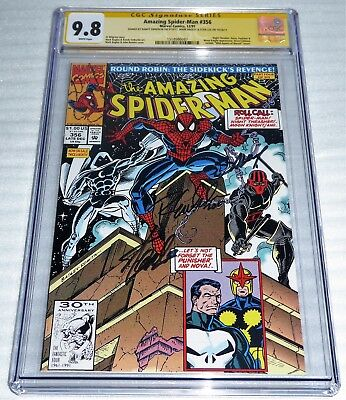 Amazing Spider-Man #356 3x CGC SS Signature Autograph BAGLEY STAN LEE Punisher