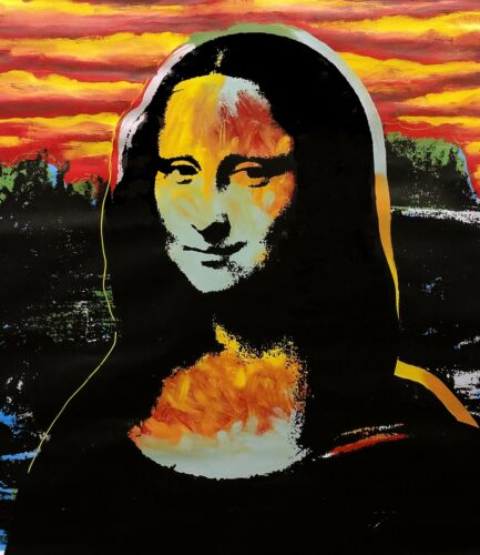 "Steve Kaufman ""mona Lisa - Sunset"" 