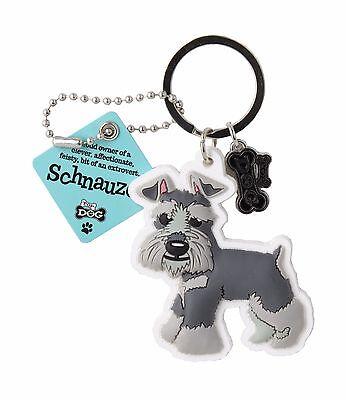 Schnauzer Keyring Gift/Present Dog Key Ring Bag Charm