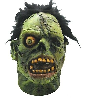 Halloween SHOCK GRAVEYARD GREEN MONSTER Latex Deluxe Mask TOT's Haunted House  ()