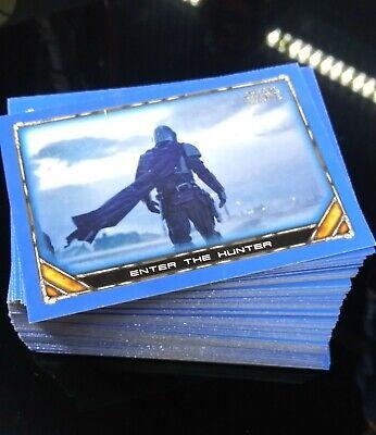 👽 2020 Topps Star Wars The Mandalorian Season 1, Complete Blue Parallel Set
