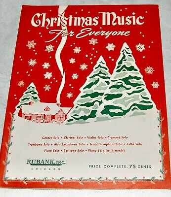 Vintage Christmas Music For Everyone 21 Songs Piano Songbook 1977 Rubank  ()