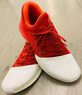 Adidas Harden Vol.1 Home Men Size 13 Basketball White Scarlet Red-Rockets BW0547