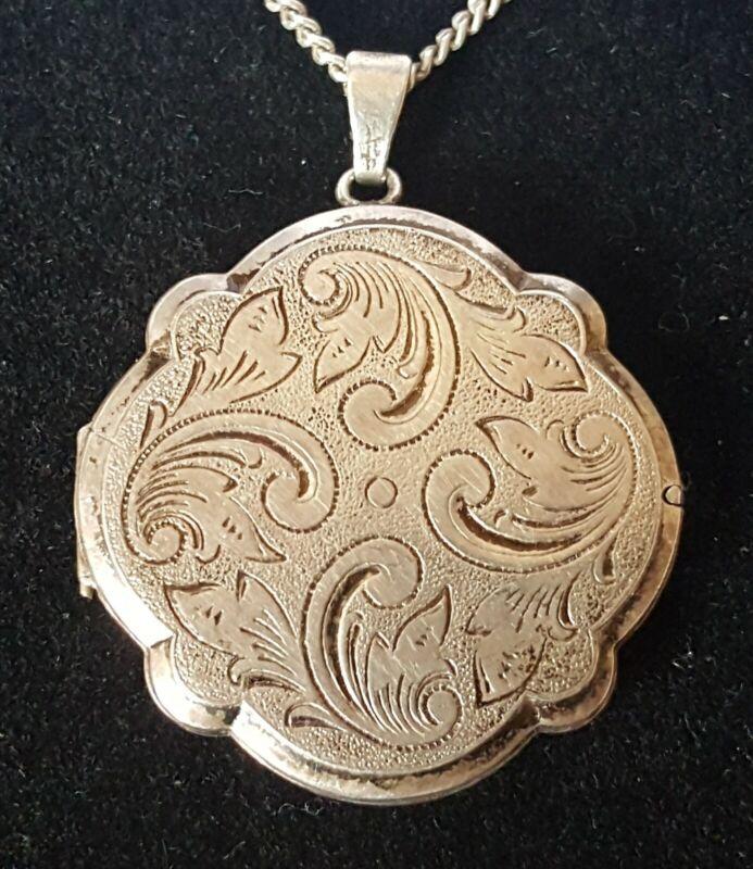 Sterling silver vintage Victorian antique floral design locket