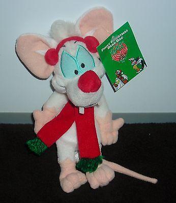 "WARNER BROTHERS ANIMANIACS 9"" PINKY AND THE BRAIN CHRISTMAS PLUSH BEANIE"