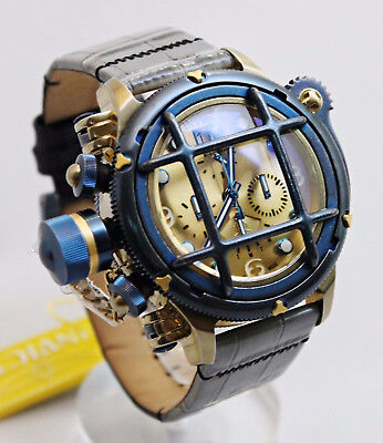 NEW Invicta 17344 Russian Diver Quartz Chronograph w/8 slot collector case