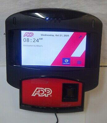 Adp Touch Screen 70001 Biometric Time Clock Please Read