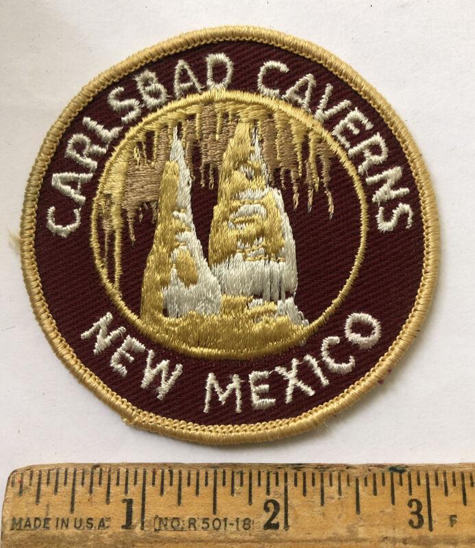 Vintage Carlsbad Caverns New Mexico Travel Souvenir Patch