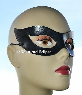 Catwoman Mask Halloween Costume (1950s Catwoman Leather Mask Halloween Superhero Costume Marvel Harley Quinn)