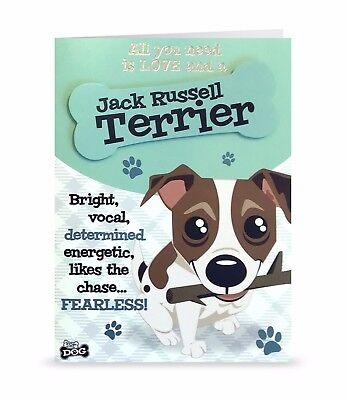 Jack Russell Terrier  Love Cute Blank Greeting Card Birthday 3D Bone Dog Lovers