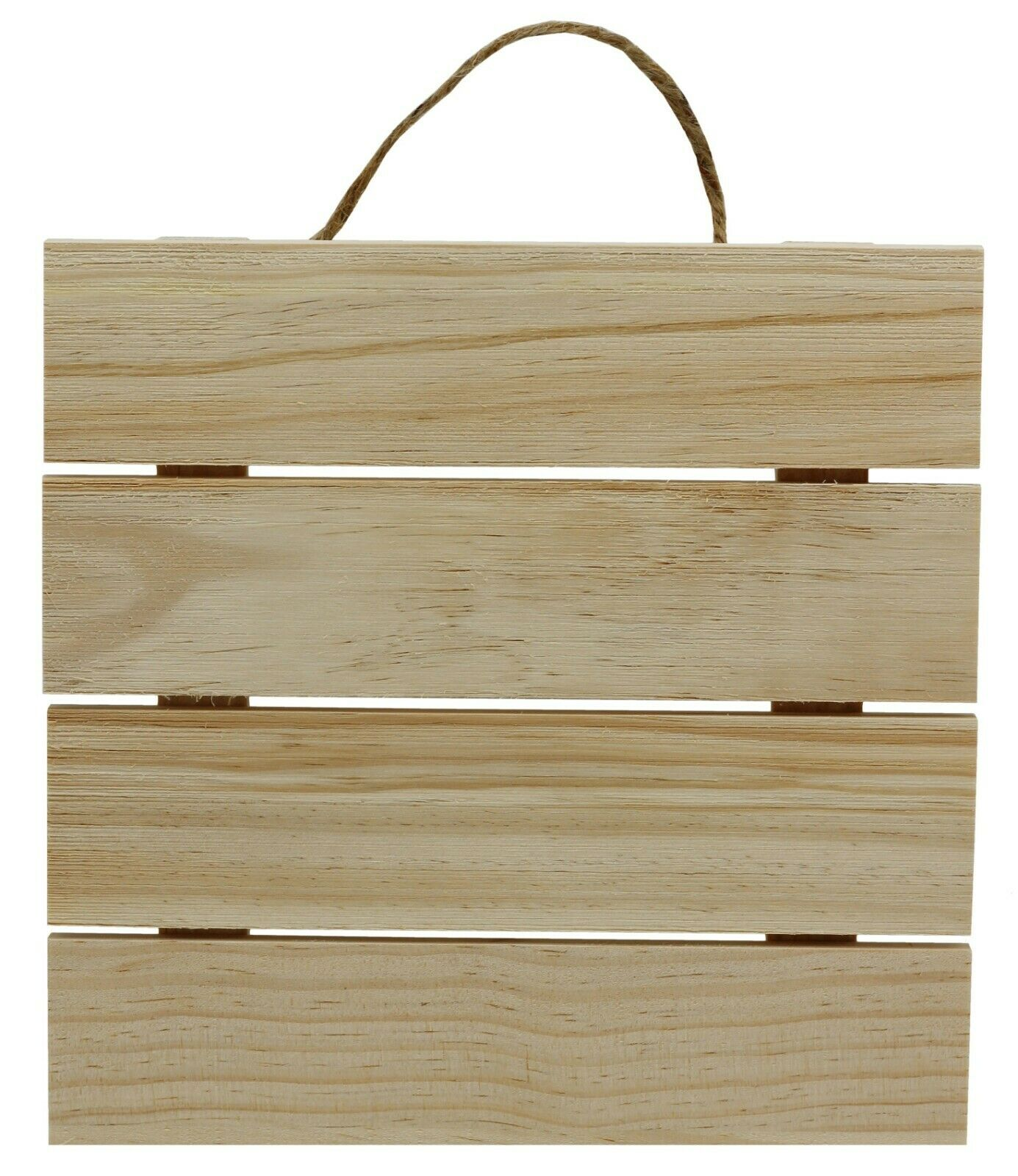 10×10″ Unfinished Wood Hanging Plaque, DIY Wood Pallet Sign, Decorative Plaque Crafts