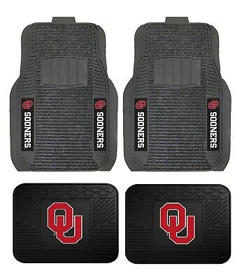 Oklahoma Sooners Deluxe Auto Floor Mats - Car, Truck, SUV (Oklahoma Sooners Floor)