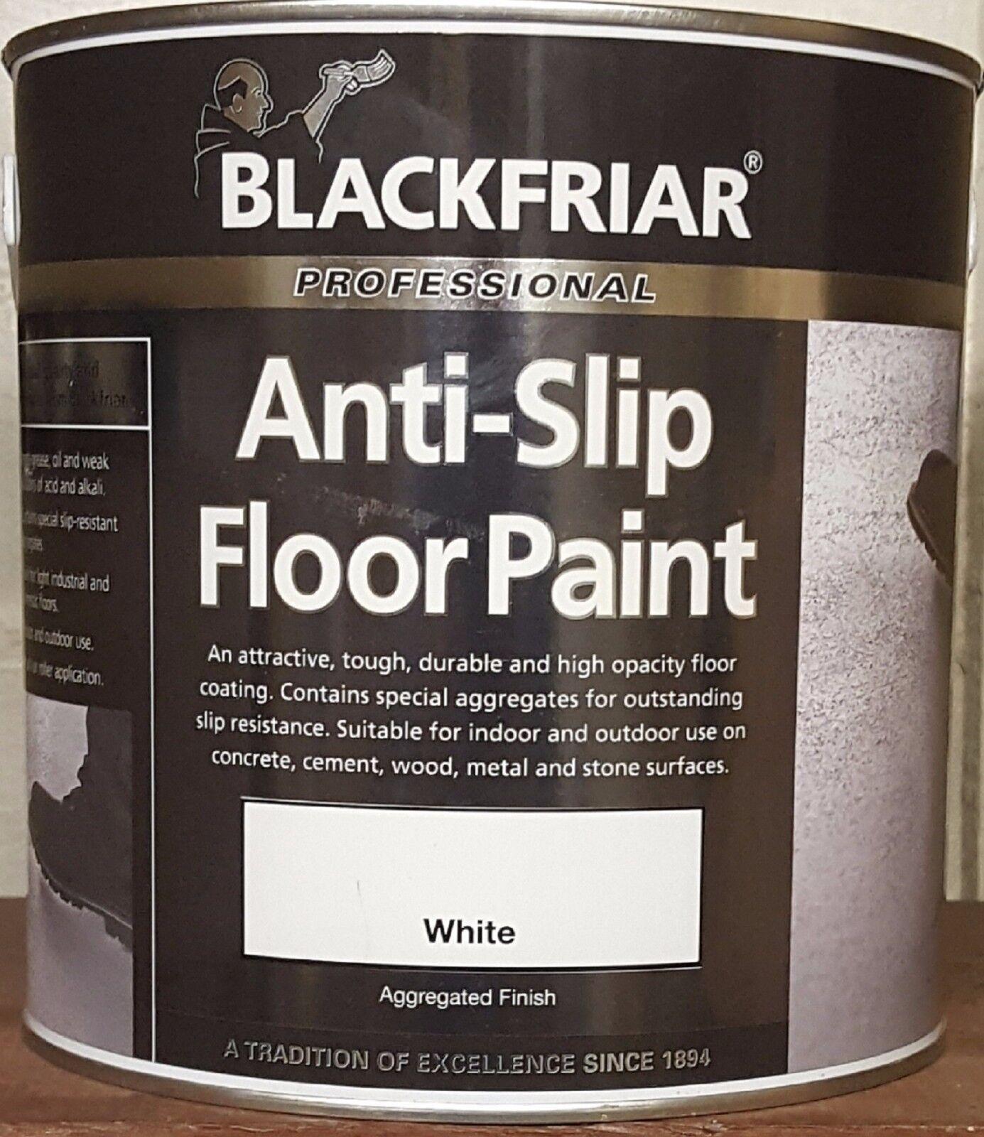 Blackfriar Anti Slip Floor Paint 1 2.5 & 5 litre yellow mid grey green black