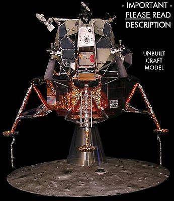 Apollo 11 Lunar Module Lm 5 1 32 Craft Model For Revell Command Service Csm Read