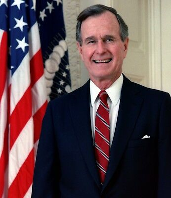 George H W  Bush 41St President Of The United States Photo Art Artwork 8X10