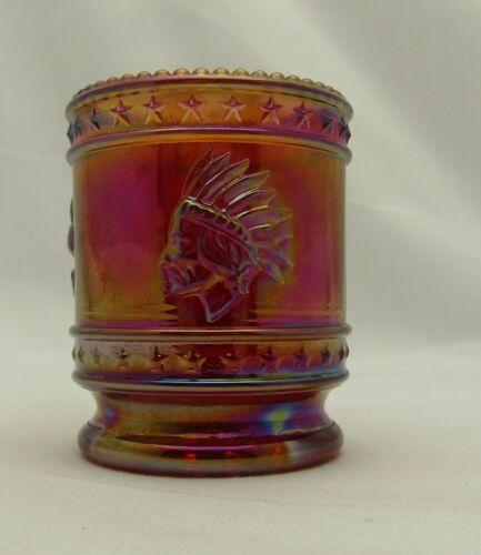 Bob St Clair 1976 Bicentennial Nixon Error Red Carnival Glass Toothpick Holder M