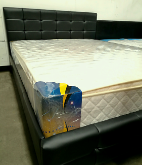 Factory direct to public brand new PU leather bed frame.Metal and