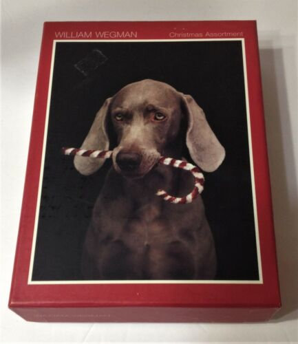 20 WILLIAM WEGMAN Weimaraners CHRISTMAS CARDS & ENVELOPES in Box DOGS 5 Styles