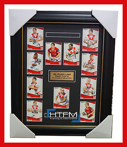2014-ST-GEORGE-ILLAWARRA-DRAGONS-NRL-RUGBY-LEAGUE-COMPLETE-CARD-SET-FRAMED