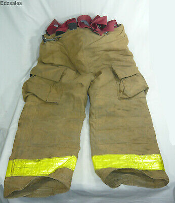 Globe Firefighter Firemen Turnout Bunker Gear Size 38 X28 Pants W Suspenders