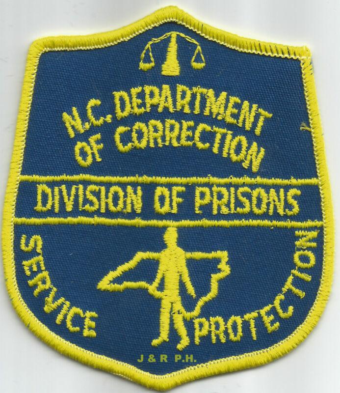 "North Carolina - Division of Prisons  (4"" x 3.75"")  shoulder police patch (fire)"