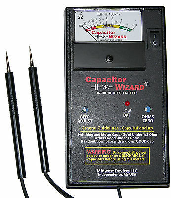 CAP1B ESR Capacitor Wizard Capacitance ESR Meter/Tester Test Caps In Circuit