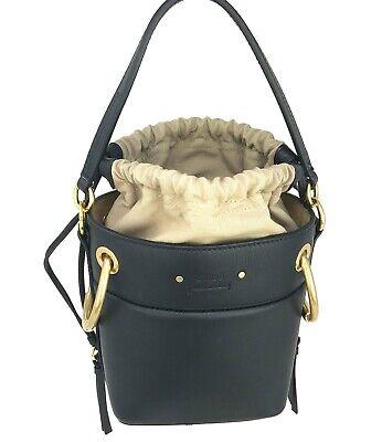 New w/tag $1490. Chloe Roy Crossbody Bucket Bag. Black. Made In Italy.