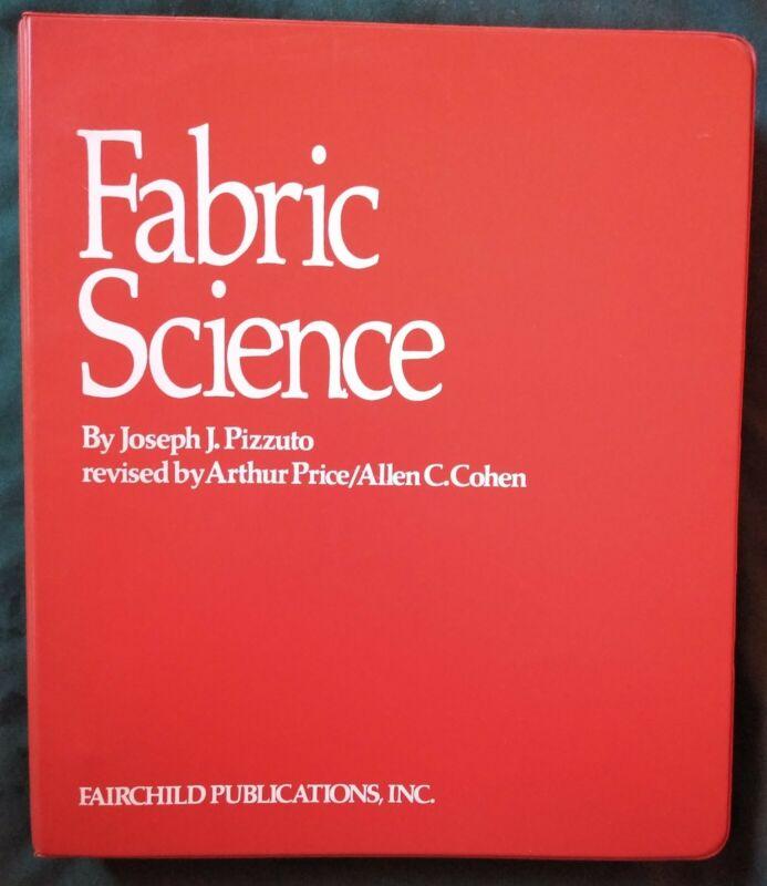 Vtg 1974 1975 Fabric Science Looseleaf Joseph Pizzuto 3rd Print Fairchild Book