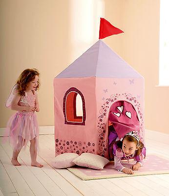 Cotton Princess Play Tent 140 x 120cm Pink Castle Indoor Outdoor Kid's Teepee