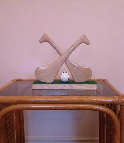 Ash Hurley Stick Ornament - GAA Hurling - 2 Hurley & Ball Hand Crafted Ornament