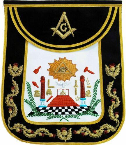 Masonic Traditional Master Mason Apron Bullion Hand Embroidered