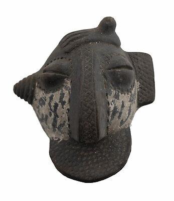 Masquette Terracotta Miniature Fetish Pasport Divination Art African 6489
