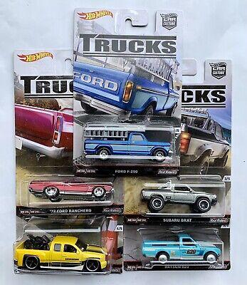 Hot Wheels Trucks Ford F-250 Ranchero Subaru Chevy Silverado Datsun 620 Oem