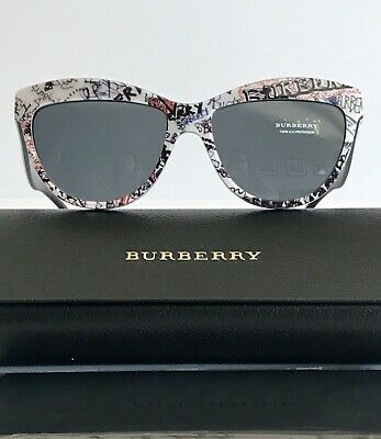 Burberry Sunglasses Women's Cat Eye B 4267 56mm Made In Italy New Authentic