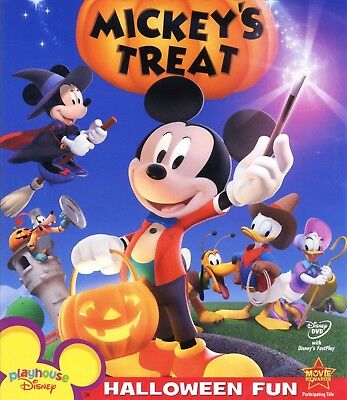 Mickey Mouse Halloween Movies (Mickey Mouse Clubhouse: Mickeys Treat 2007 Halloween movie, new DVD, mouse)