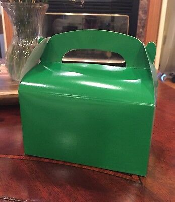 36 GREEN PARTY FAVOR TREAT BOXES BAG GREAT FOR BIRTHDAYS WEDDING  BABY