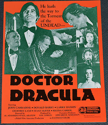 DOCTOR DRACULA 1980 ORIGINAL MOVIE PRESSBOOK! JOHN CARRADINE VAMPIRE HORROR!