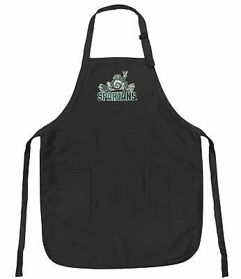 TAILGATING IDEAS Michigan State Peace Frogs Apron MSU SPARTANS BBQ Grill Baking