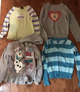 13 tops (inc hoodie, sweaters) for girl- inc Gymboree