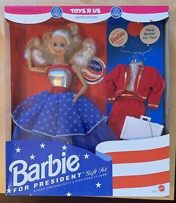 Barbie For President Gift Set Toys R Us Limited Edition 1991 Mattel ************