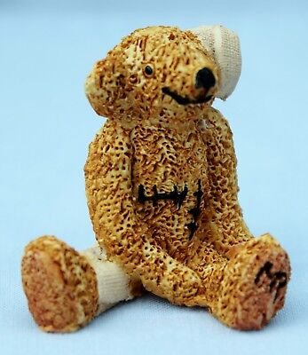 Doc 'Get Well' Bear TC090 a Perfect Colour Box Miniature SIGNED by Peter Fagan