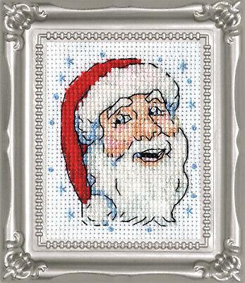Cross Stitch Kit Design Works Christmas Santa Face Picture w/Frame & Mat #DW524 Font Frames Embroidery Design