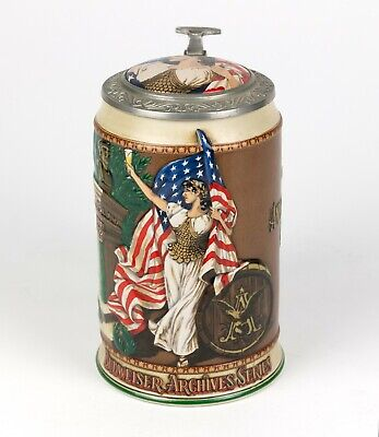 1992 Anheuser-Busch Budweiser Ceramic Beer Stein | 1893 Columbian Exposition