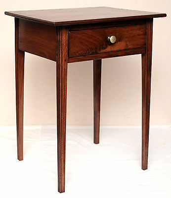 "c1800 Chippendale 1 drawer stand, walnut, Delaware River Valley, molded leg,28""t"