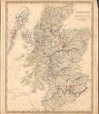 1841 ANTIQUE MAP- SDUK - SCOTLAND